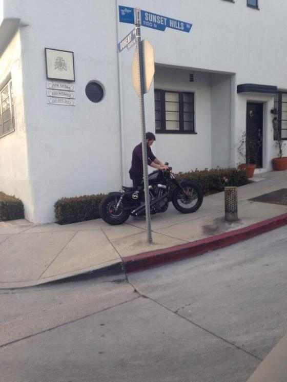 alex with his motorcycle